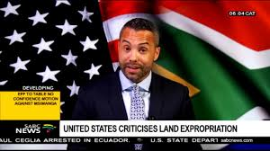 United States criticises land expropriation